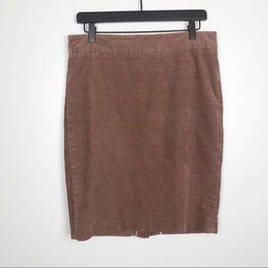 J. Crew corduroy pencil skirt